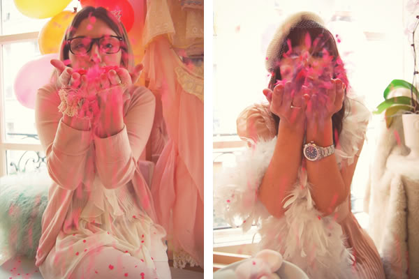 blowing confettis