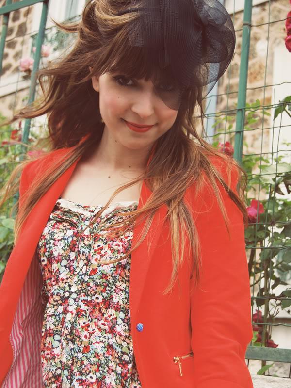 red Zara jacket