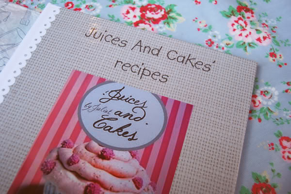 livre recette Juices & Cakes