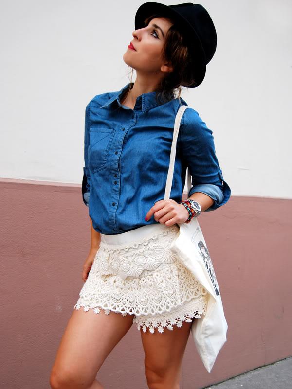 lace shorts boyish style