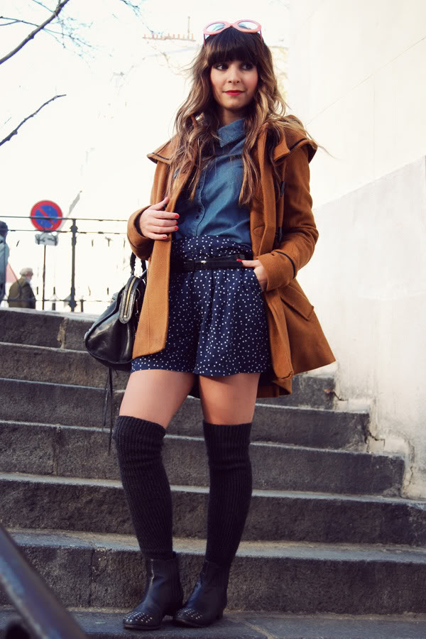 Montmartre stroll sun stars shorts over the knee socks