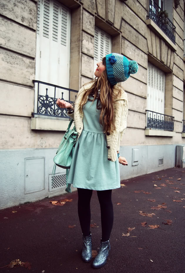 Ice mint dress imp hat streetstyle