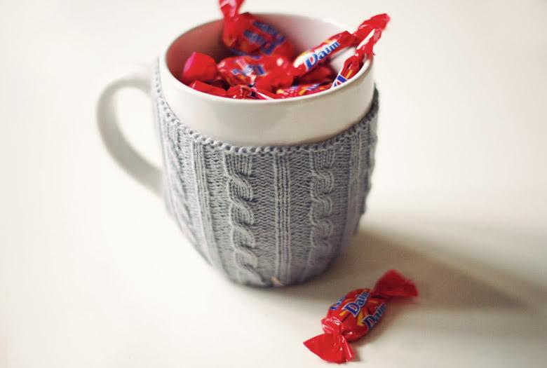Mug knitting cute Daim sweets chocolats