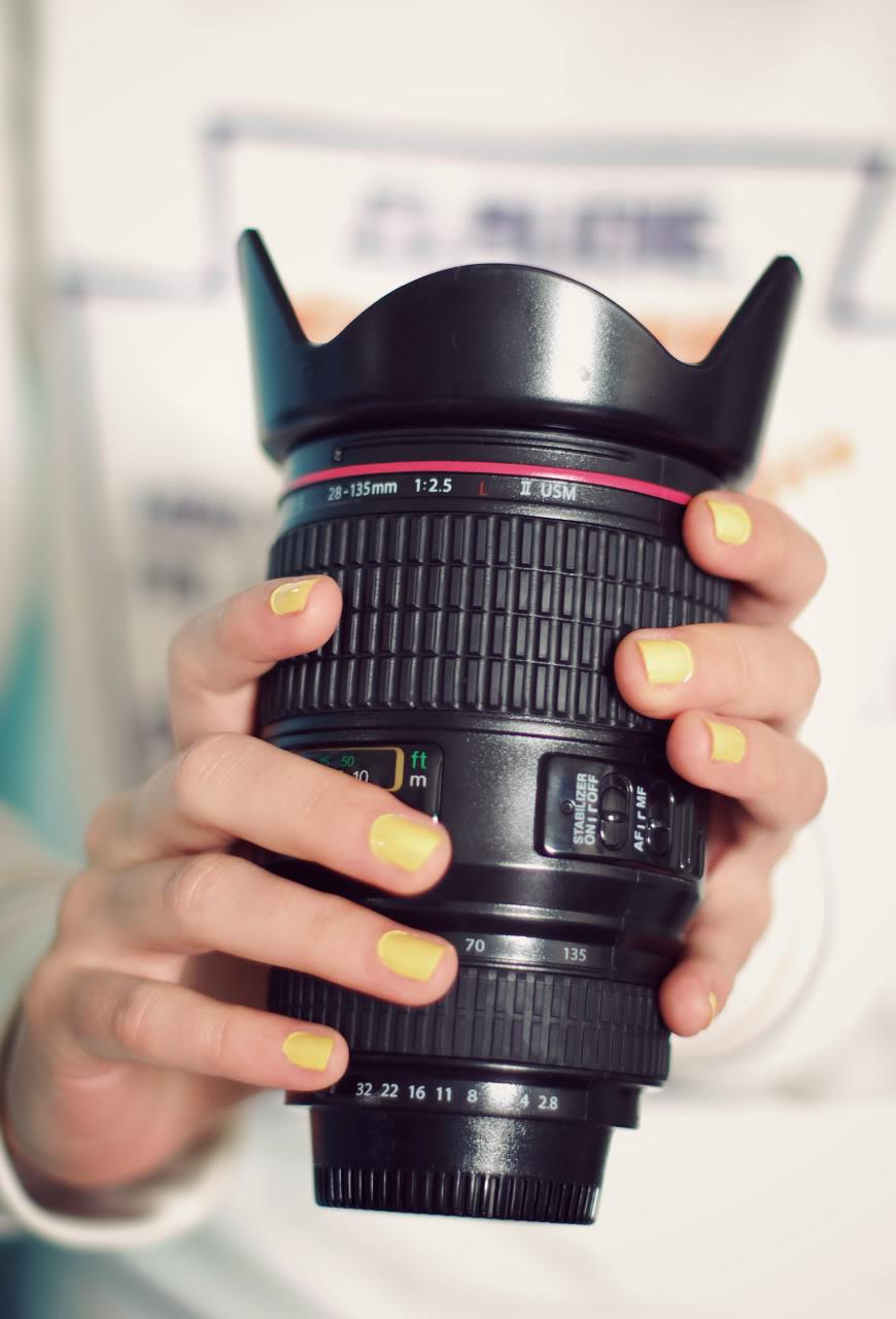 mug camera lens Urban Outfitters zoom vernis jaune Bourjois