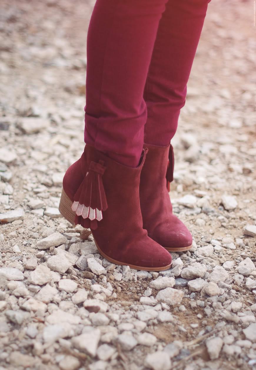 Mesroda Patricia Blanchet boots bordeaux parka Asos streetstyle