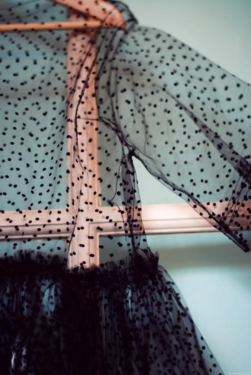 robe Lisa Makemylemonade plumetis tulle noir