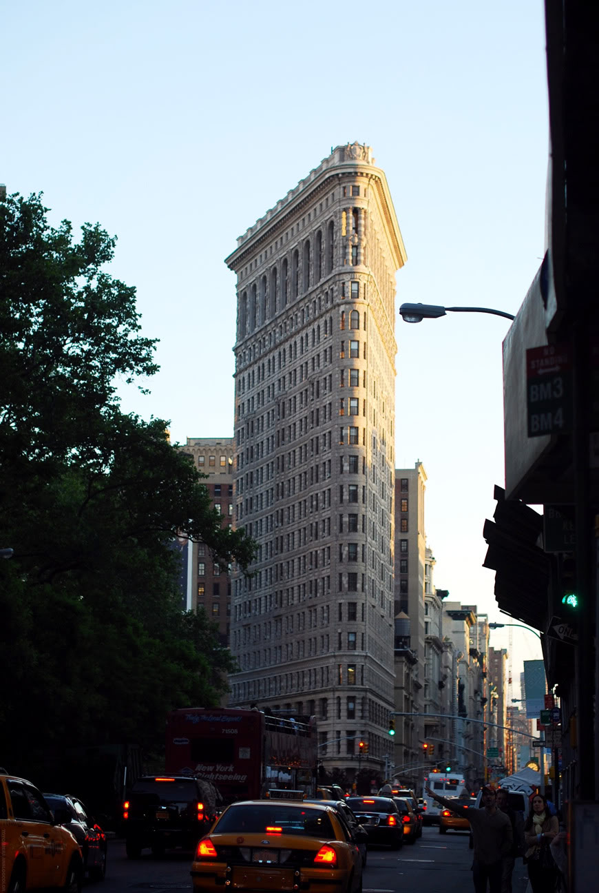 New York sunset Flat Iron building