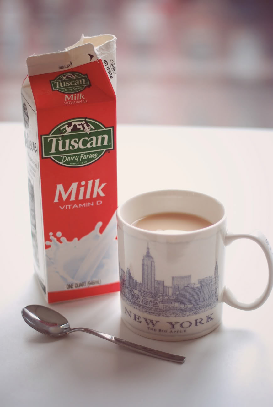 New York mug Milk tea