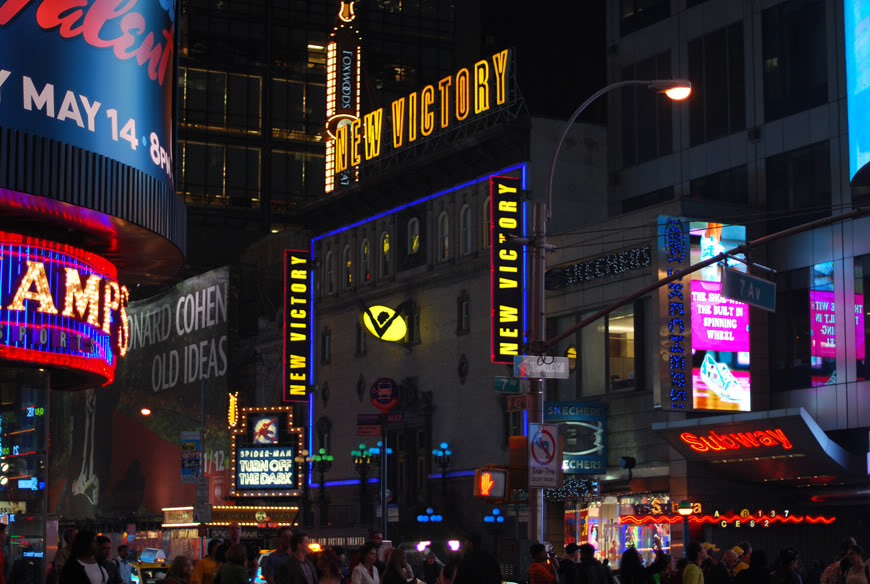New York by night Times Square Broadway picture travel