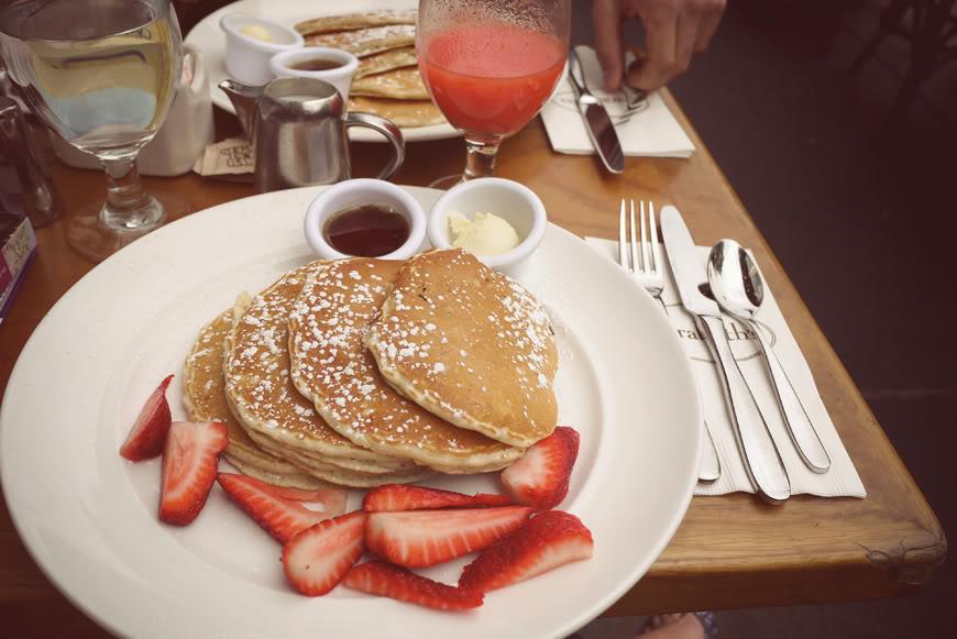 Sarabeth pancakes New York Central Park Valentine Hello it's Valentine
