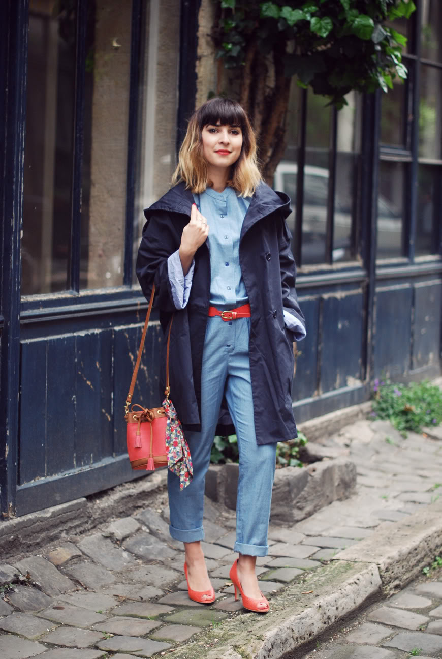 Sessùn streetstyle denim jumpsuit