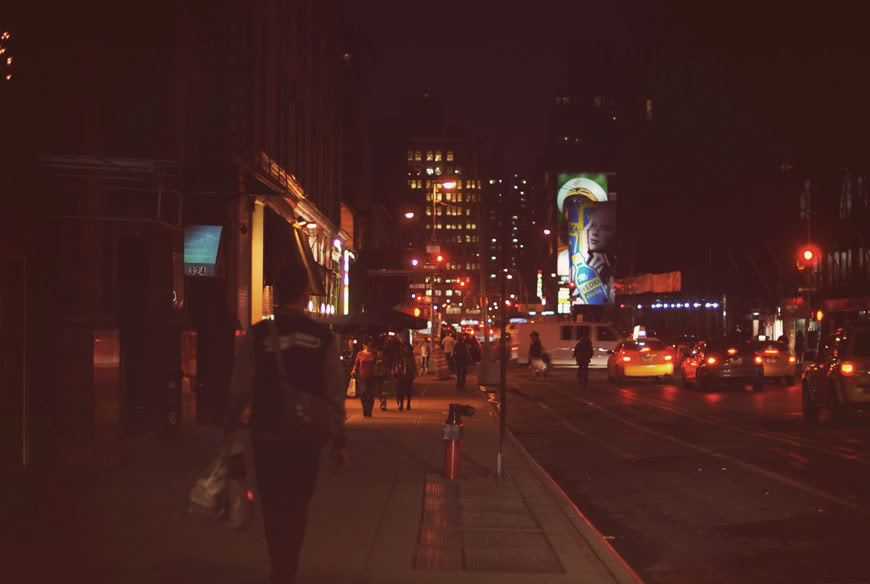 New York West Village walk Valentine travel night