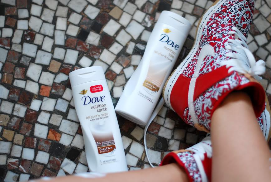 Dove dans la peau SkinCare crèmes