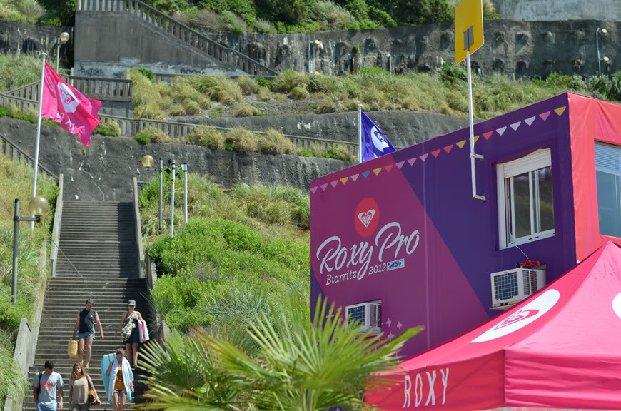 Roxy Pro 2012 Biarritz surf competition plage sun