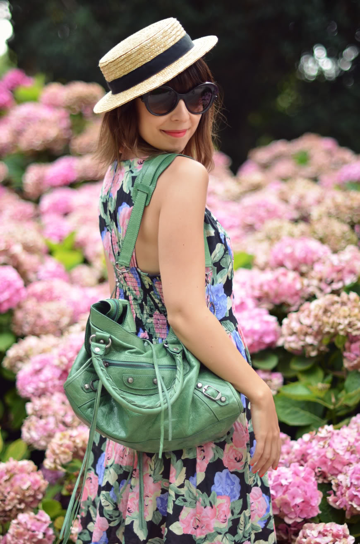 Jardin de Bagatelle Valentine robe fleurs