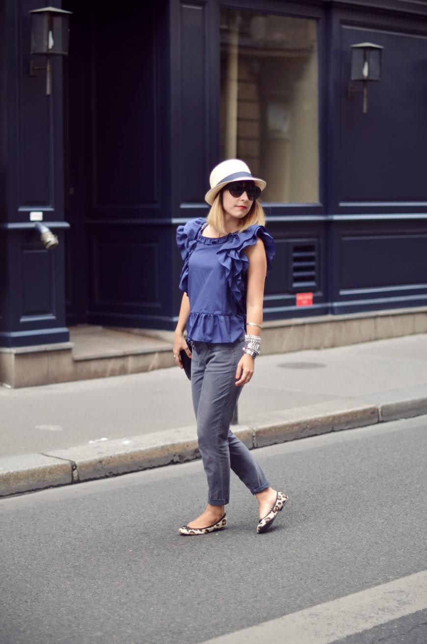 Blueberry Hill streetstyle Borsalino hat Paris Chanel look Valentine