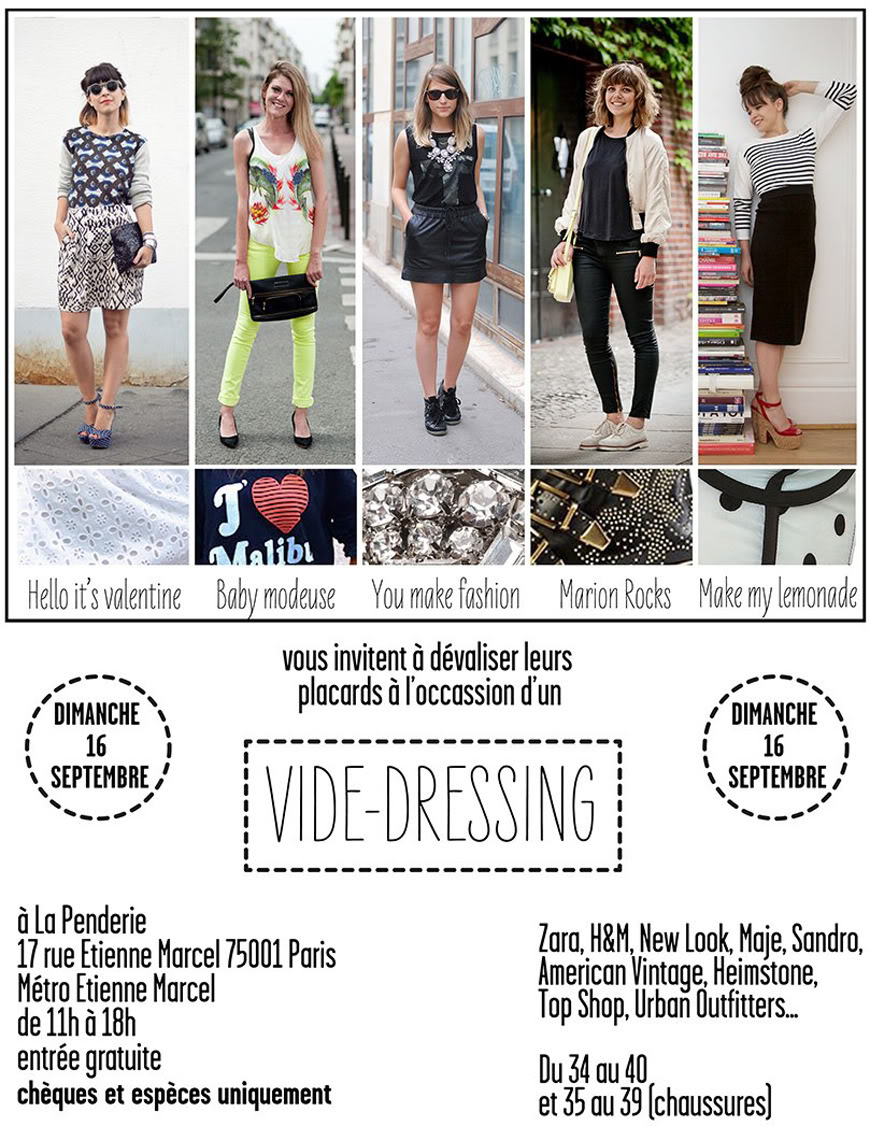 Vide Dressing blogueuses Paris