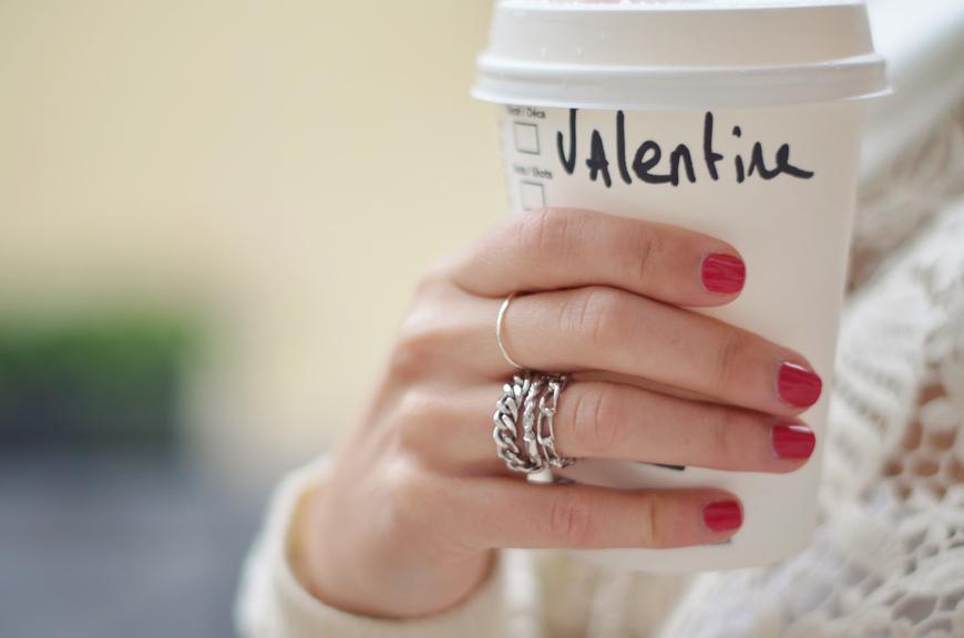Chaï tea latte Helloitsvalentine streetstyle white lace sweater H&M Trend Anniel