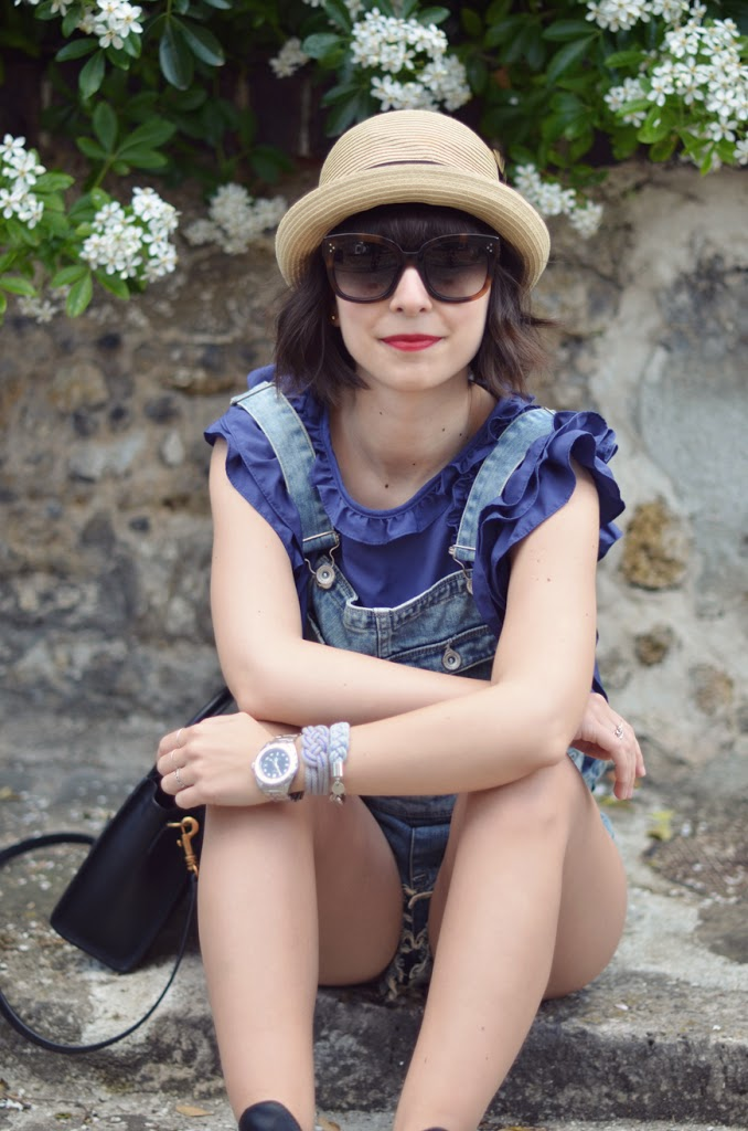 Helloitsvalentine outfit overalls dungaree streetstyle cut out boots New Audrey Céline sunglasses french fashion