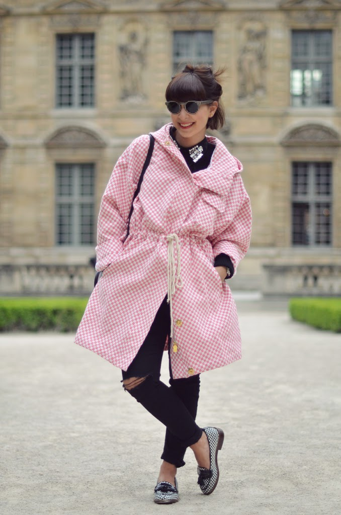 Queen of diamonds Helloitsvalentine fashion streetstyle Jeffrey Campbell flats Manoush coat