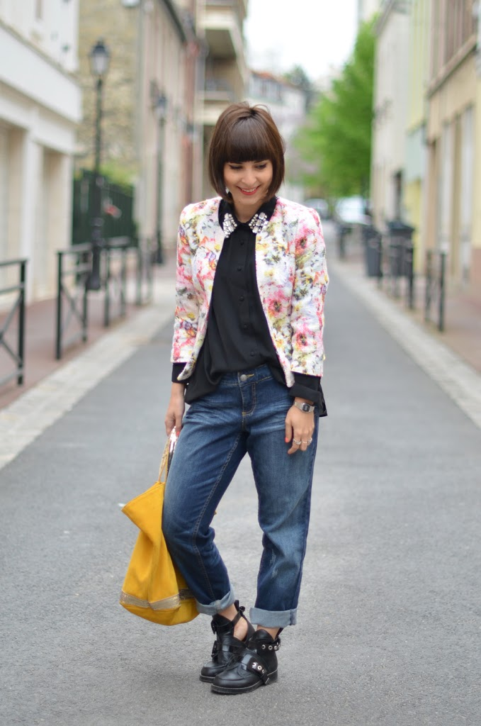 Feeling Good Helloitsvalentine streetstyle fashion french blogger Paris Vanessa Bruno Bouton d'or bag boyfriend jeans