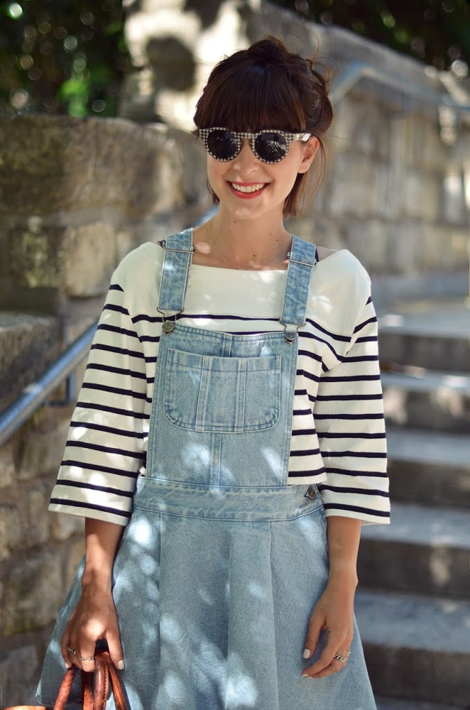 Denim Dress Olive clothing Paris basket Hello it's Valentine french blogger streetstyle