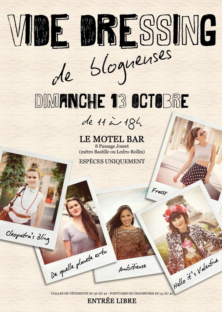 Vide Dressing blogueuses Paris flyer affiche design graphisme Hello it's Valentine