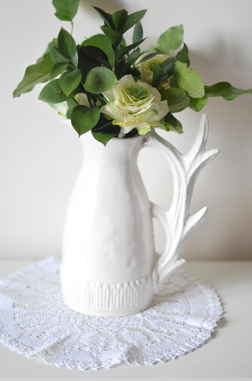 Pichet pitcher deer branch white Anthropologie Hello it's Valentine Helloitsvalentine