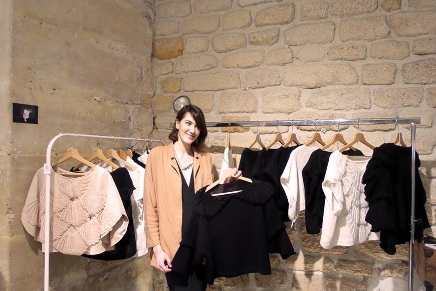 Les Mailles de Paris pull collection maille créatrice Helloitsvalentine Hello it's Valentine