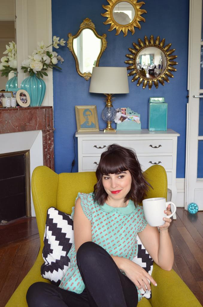 Rubens fauteuil demi-lune vert avocat concours Made Helloitsvalentine déco intérieur interior home living-room