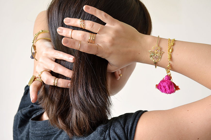 bijoux or Helloitsvalentine jewels gold golden accumulation french blogger