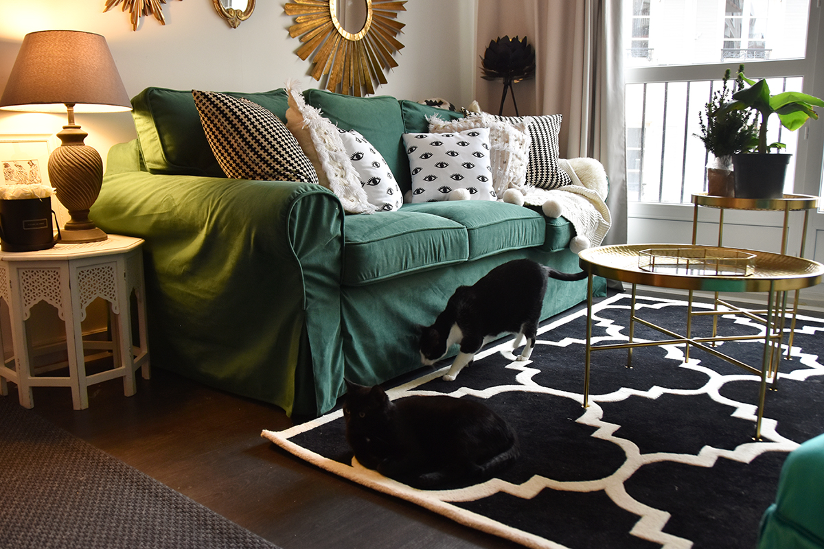 green sofa cover relooking de canap hello it 39 s valentine. Black Bedroom Furniture Sets. Home Design Ideas
