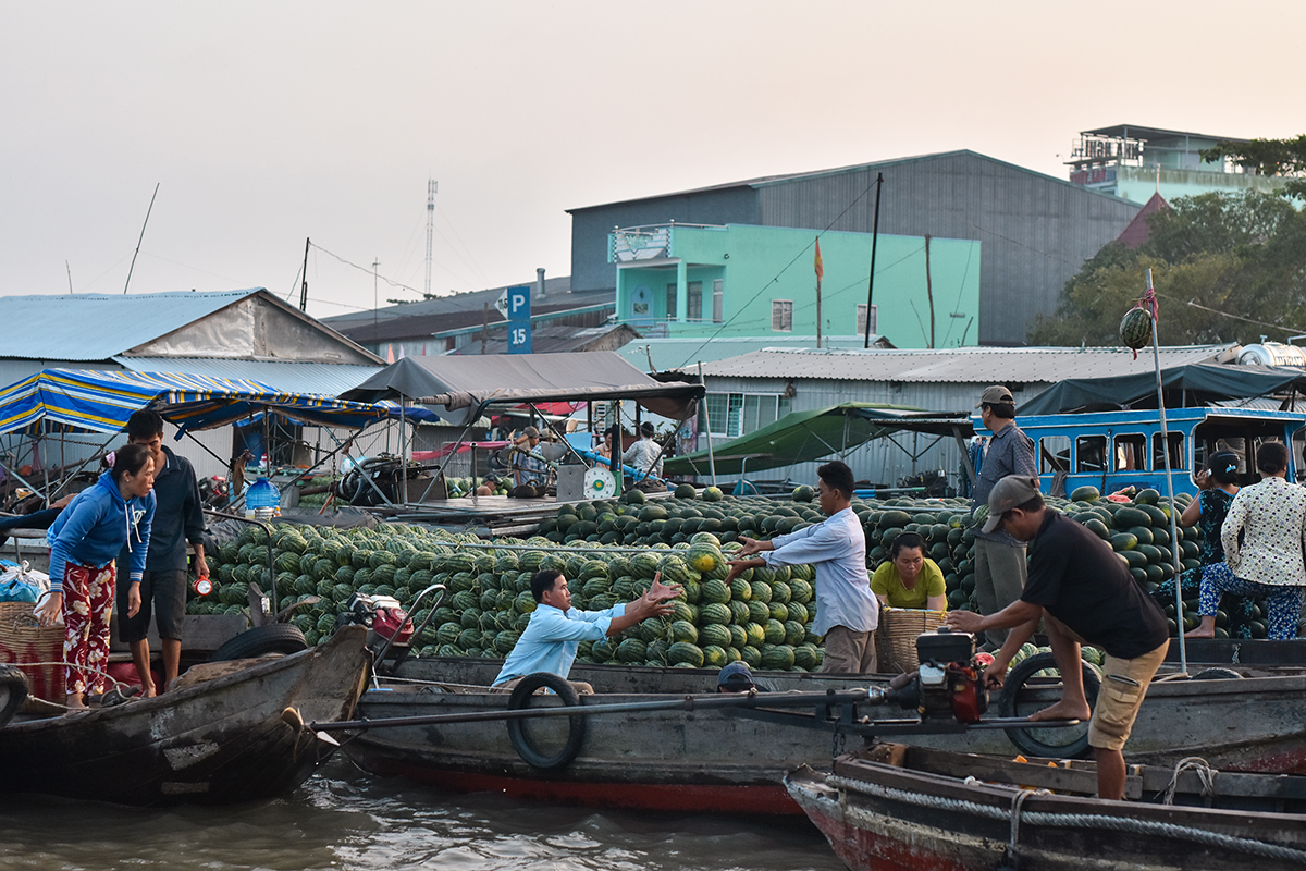 Helloitsvalentine MarcheFlottant CaiRang CanTho DeltaduMekong 11 - Quelques jours au Vietnam – Le marché flottant de Cai Rang à Can Tho sur le Delta du Mékong